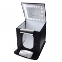 Caruba Portable Photocube LED - <p>The Caruba Portable Photo Cube with LED light, you can very easily create professional product photos with a camera or smartphone! It is a foldable, portable photo studio that is spacious enough to place in very different products. The energy-efficient LED lights in the lid of the Photo Cube shine brightly and consistently, so the Portable Photo Cube also at night use is.</p>