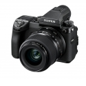 "GFX 50s - <p>With this exceptional hybrid camera, both compact and lightweight, FUJIFILM transcends the notions of digital medium format camera and redefines the high-end interchangeable lens camera. Featuring a revised 43.9mm × 32.9mm CMOS sensor with a resolution of 51.4 Megapixels, the GFX 50s changes the deal! It offers new creative possibilities to photography, inaccessible to the medium format to date. With its compact ""Hybrid"" design, ""All-Weather"" construction, with a large 51.4Mp sensor and a large range of lenses, the GFX 50 meets the highest quality conditions of shooting, from portrait to reportage, from culinary to high mountain. In less than 5 minutes the user can shoot perfectly, as simple as an X-T2, and its light weight make it the ideal device for the perfect picture quest.</p>"